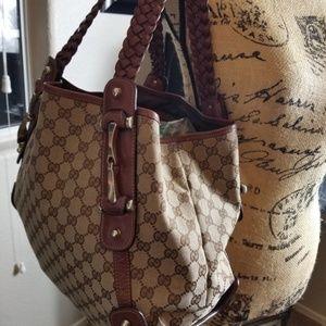 Authentic Gucci Print Shoulder Bag